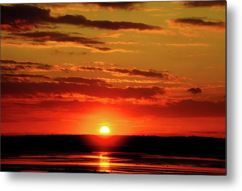 Background Metal Print featuring the photograph Sunset. by Jay Mudaliar