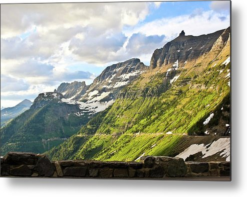 Going To The Sun Road Metal Print featuring the photograph Sunset On Going To The Sun Road by Rebecca Wineka