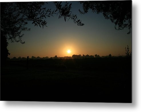 Sunset Metal Print featuring the photograph Sunset On The Farm by Joshua Sunday