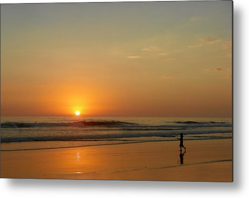 Pacific Metal Print featuring the photograph Sunset Over La Jolla Shores by Christine Till
