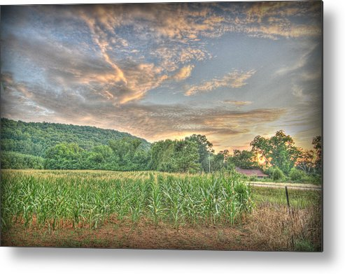 Sunset Metal Print featuring the photograph Sunset Over The Fields by Patricia Montgomery