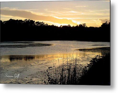 Inlet Metal Print featuring the photograph Sunset Over The Marsh by Suzanne Gaff