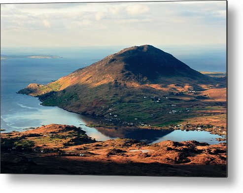 Connemara Metal Print featuring the photograph Sunset Reflection In Connemara Ireland by Pierre Leclerc Photography