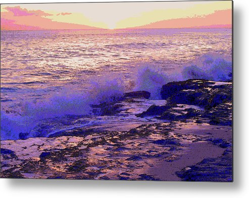 Sunset Metal Print featuring the photograph Sunset, West Oahu by Susan Lafleur