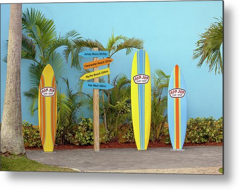 Cocoa Beach Metal Print featuring the photograph Surf Boards At Ron Jon's by Art Block Collections