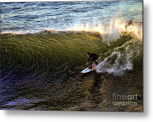 Beach Metal Print featuring the photograph Surfers Rule by Chuck Kuhn