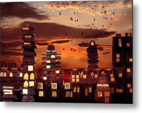 Chocolate Metal Print featuring the photograph Sweet Cityscape by Floriana Barbu