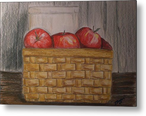 Apples Metal Print featuring the drawing Sweet Pickens by Jessica Mason
