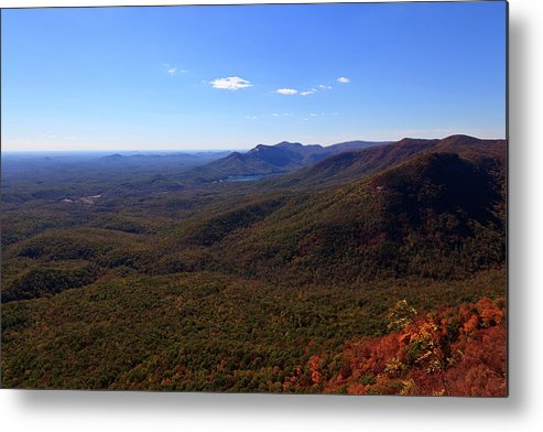 Caesars Metal Print featuring the photograph Table Rock Mountain From Caesars Head State Park In Upstate South Carolina by Jill Lang
