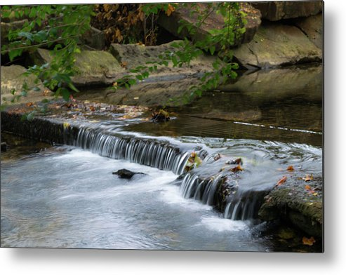 Water Metal Print featuring the photograph Tahlequah Creek Falls by My Angle On It Photography