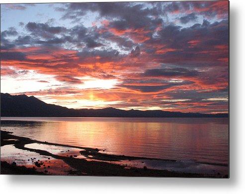 Sunset Metal Print featuring the photograph Tahoe June Sunset by Nokomis Murin