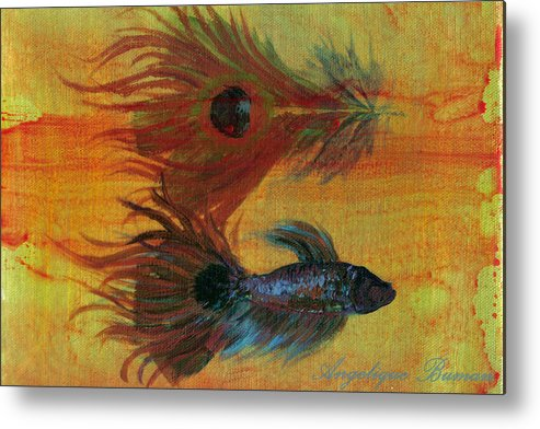 Fish Metal Print featuring the painting Tail Study by Angelique Bowman
