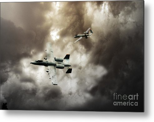 A10 Thunderbolt Ii Metal Print featuring the digital art Tank Busters by J Biggadike