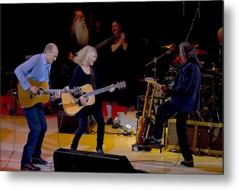 Performance Metal Print featuring the photograph Taylor King And Group In Concert by Michael Riley