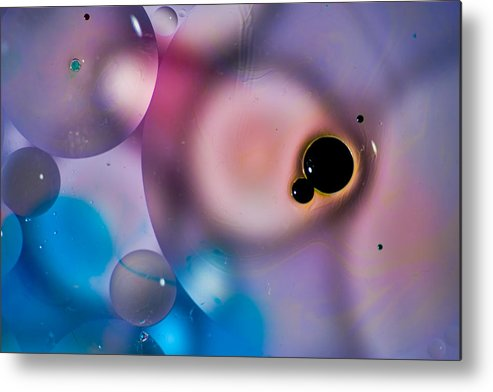 Abstract Metal Print featuring the photograph The Blob by Dave Perks