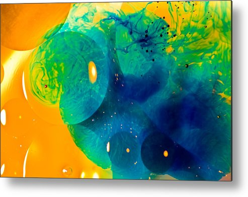 Abstract Metal Print featuring the photograph The Blob Too by Dave Perks