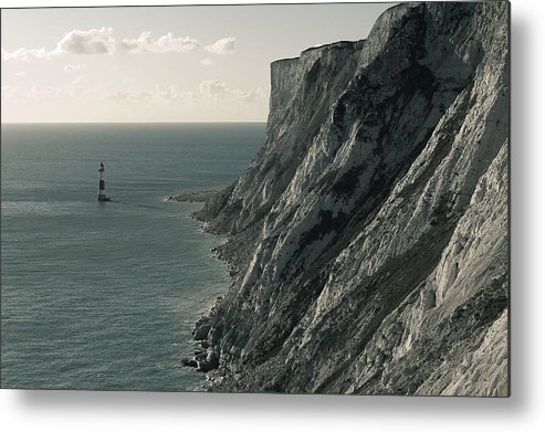 Landscapes Metal Print featuring the photograph The Cliffs Of Beachy Head And The Lighthouse by Luka Matijevec