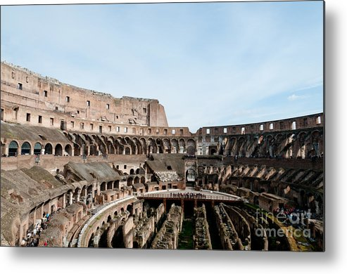 Colosseum Metal Print featuring the photograph The Colosseum Colosseo Ruins Of The Gladiators Stadium Rome Italy by Andy Smy