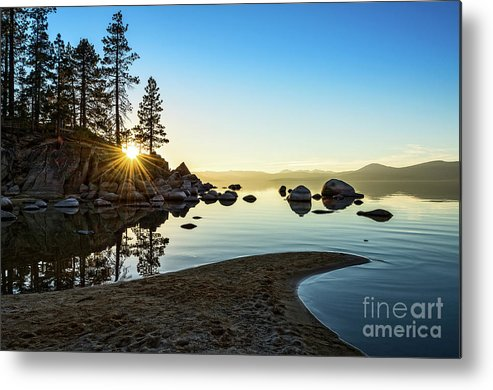 Sand Harbor Metal Print featuring the photograph The Cove At Sand Harbor by Jamie Pham