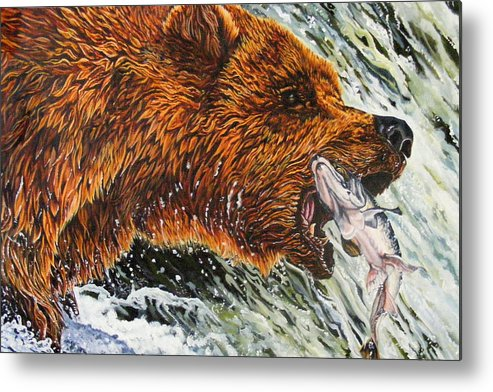 Bear Metal Print featuring the painting The Cycle by Donald Dean