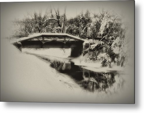 Delaware Canal Metal Print featuring the photograph The Delaware Canal At Washingtons Crossing by Bill Cannon