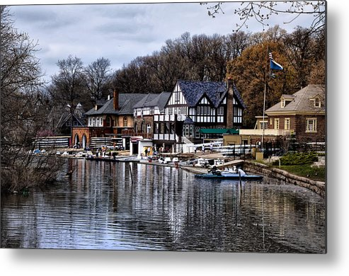 Docks Metal Print featuring the photograph The Docks At Boathouse Row - Philadelphia by Bill Cannon