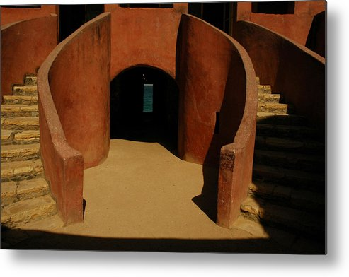 Africa Metal Print featuring the photograph The Door Of No Return On Goree Island by Bobby Model