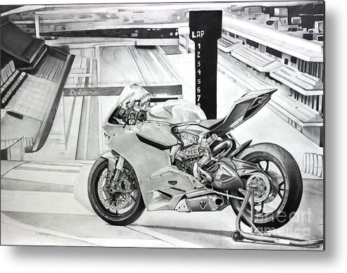 The Ducati 1199 Panigale R Motorcycle Metal Print By Skincandy Nine