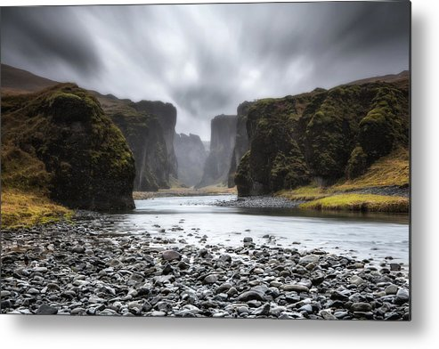 Iceland Metal Print featuring the photograph The Entrance by Jorge Maia
