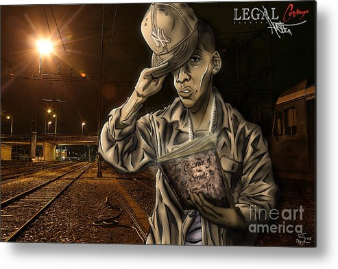 Tuan Metal Print featuring the drawing The Essence Of The Streets by Tuan HollaBack