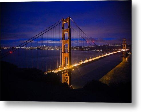 Golden Gate Bridge Metal Print featuring the photograph The Grand Golden Gate by Patrick Flynn