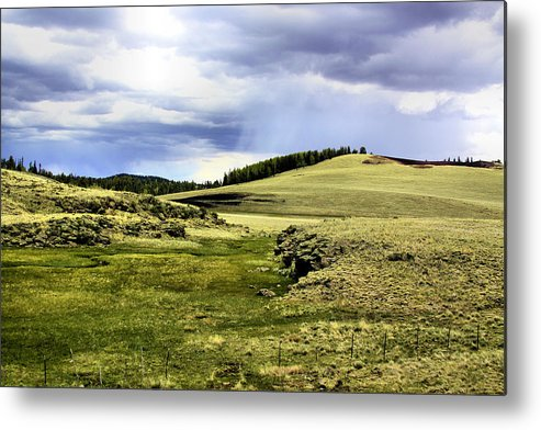 Photography Metal Print featuring the photograph The Green White Mountains 1825 by Sharon Broucek