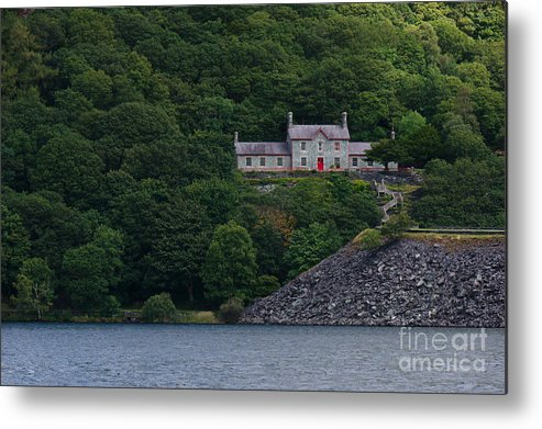 Across The Lake Metal Print featuring the photograph The House By The Llyn Peris by MSVRVisual Rawshutterbug