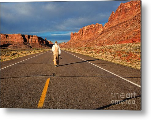 Long Road Metal Print featuring the photograph The Itinerant Photographer by Jim Garrison