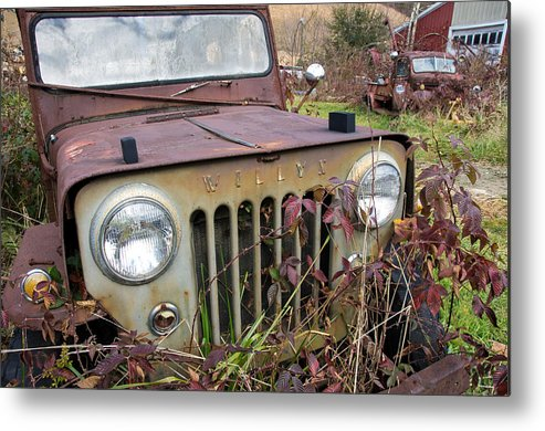 Willys Jeep Metal Print featuring the photograph The Jeepster by Neal Grillot