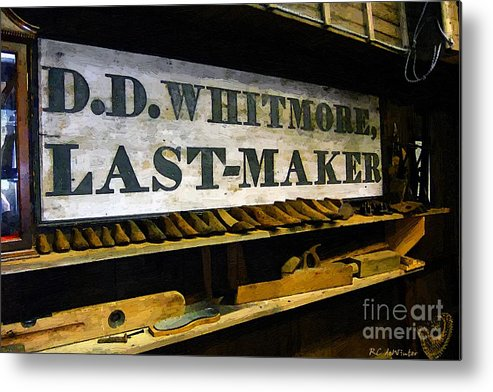Antique Metal Print featuring the painting The Last Of The Last by RC DeWinter
