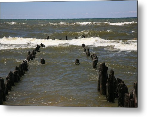 Sand Surf Metal Print featuring the photograph The Last Wooden Pier by Robert Pearson