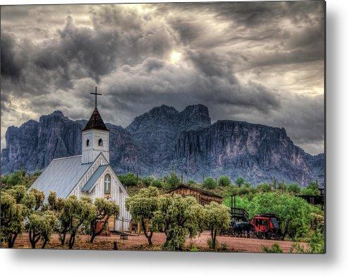 Arizona Metal Print featuring the photograph The Little Church by Saija Lehtonen