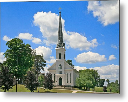 Usa Metal Print featuring the photograph The Little Country Church by Robert Pearson