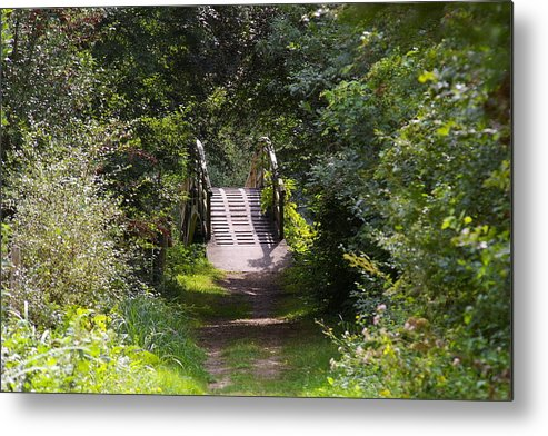 Forest Metal Print featuring the photograph The Little Wooden Bridge by Veron Miller