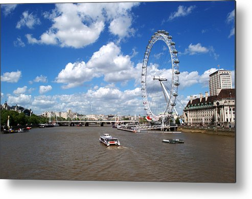 London Eye Metal Print featuring the photograph The London Eye by Chris Day