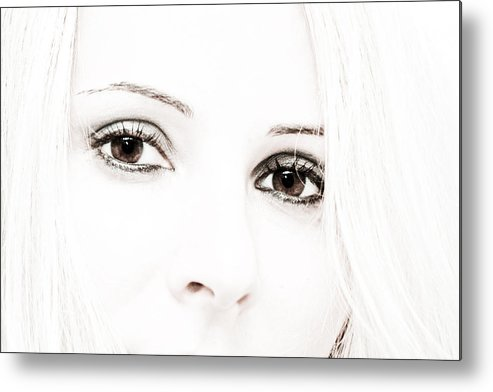 Eyes Metal Print featuring the photograph The Look by Buta Gabriel