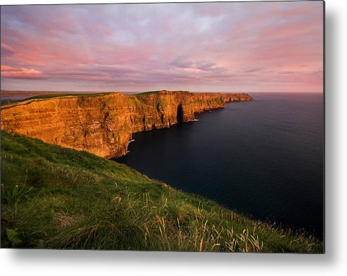 Cliffs Of Moher Metal Print featuring the photograph The Mighty Cliffs Of Moher In Ireland by Pierre Leclerc Photography