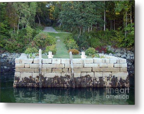Granite Metal Print featuring the photograph The Moon Garden by Faith Harron Boudreau