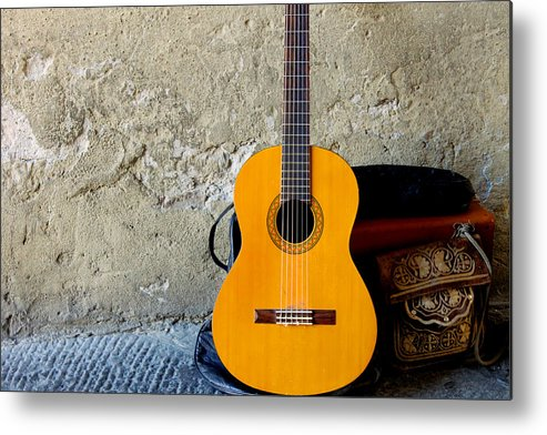Music Metal Print featuring the photograph The Music Of Lucca by Christine Buckley