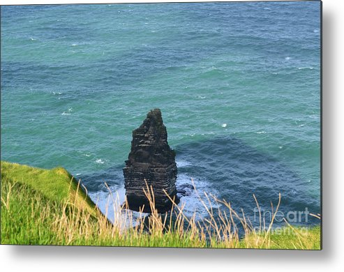 Needle Metal Print featuring the photograph The Needle Off The Cliff's Of Moher In Ireland by DejaVu Designs