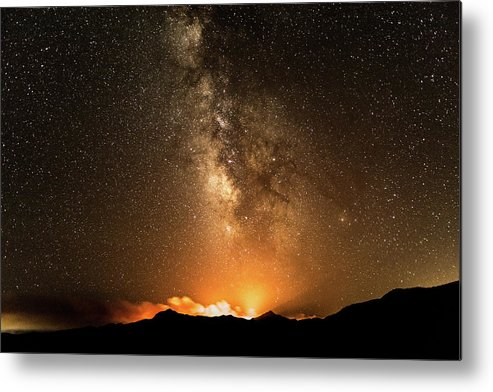 Nightscape Metal Print featuring the photograph The Night Heaven Struck The Earth by Brad Hancock