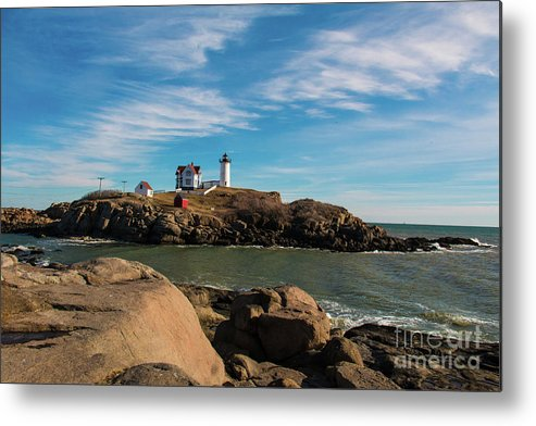 The Nubble Metal Print featuring the photograph The Nubble 2 by Mim White