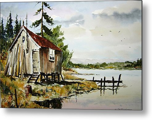 Metal Print featuring the painting The Old Bait Store by Wilfred McOstrich