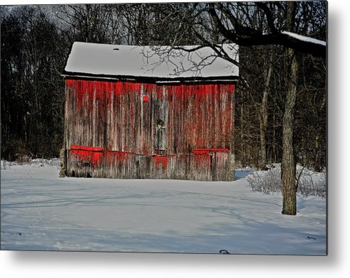 Old Metal Print featuring the photograph The Old Weathered Barn by Robert Pearson